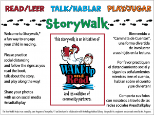 Storywalk sign